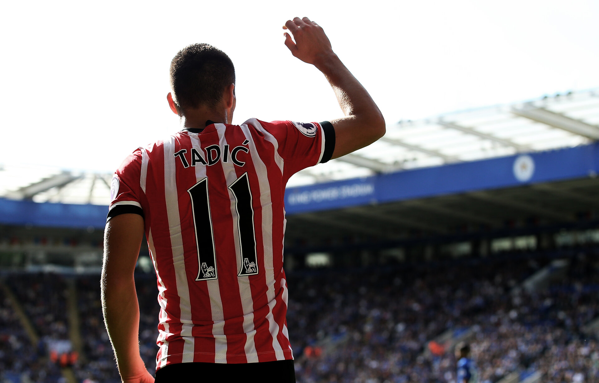 Dusan Tadic during the Premier League match between Leicester City and Southampton at the King Power Stadium, Leicester, England on 2 October 2016. Photo by Matt  Watson/SFC/Digital South.