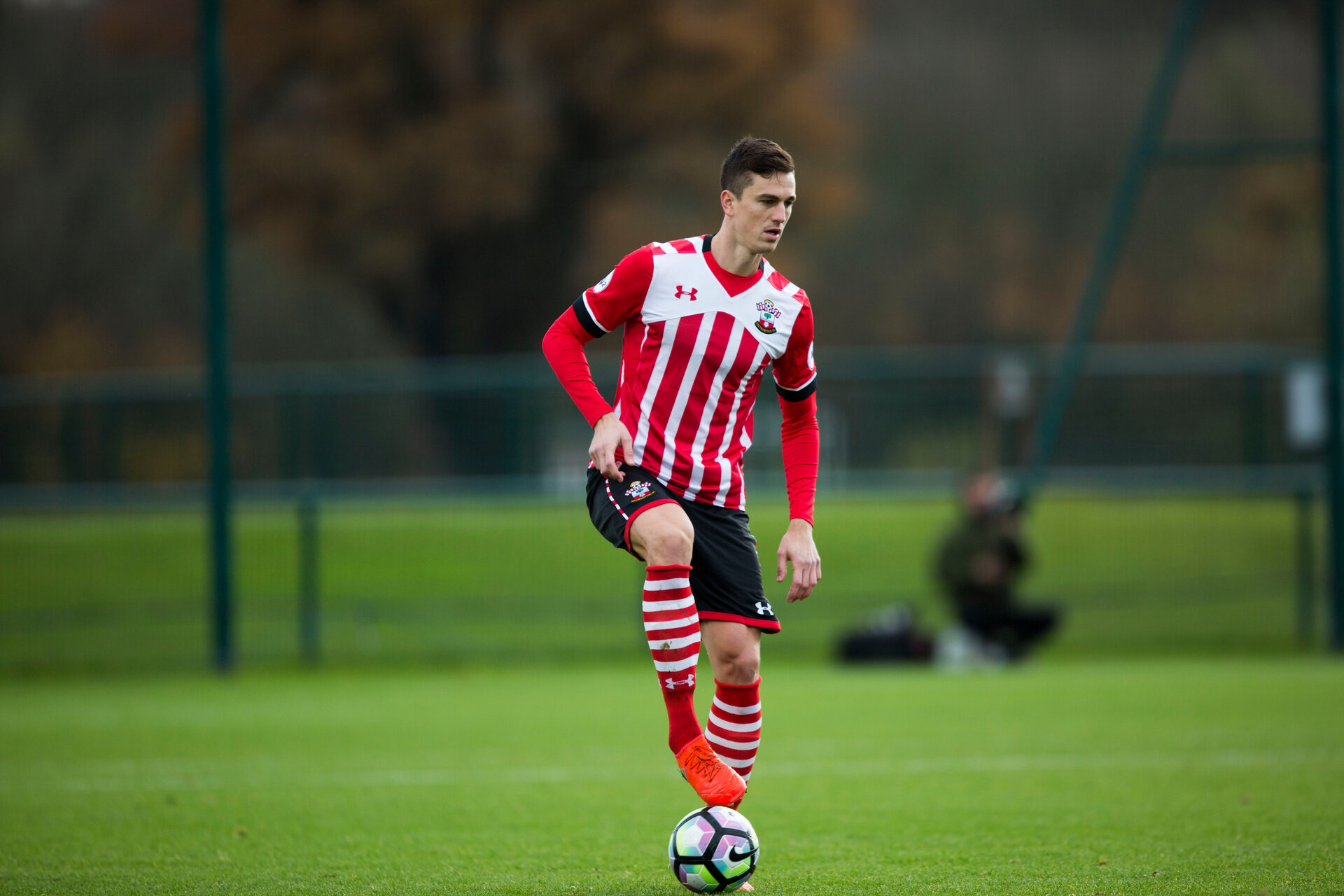 florin gardos during Southampton FC U23 v Chelsea FC U23, at Cobham Training ground, Cobham, 21st November 2016, pic by Naomi Baker/Southampton FC