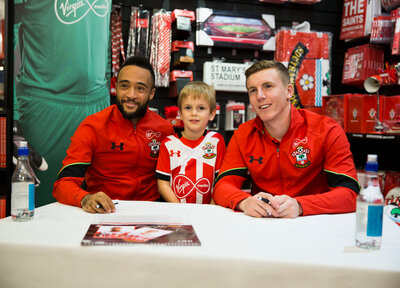 Gallery: Signing session with Redmond and Targett
