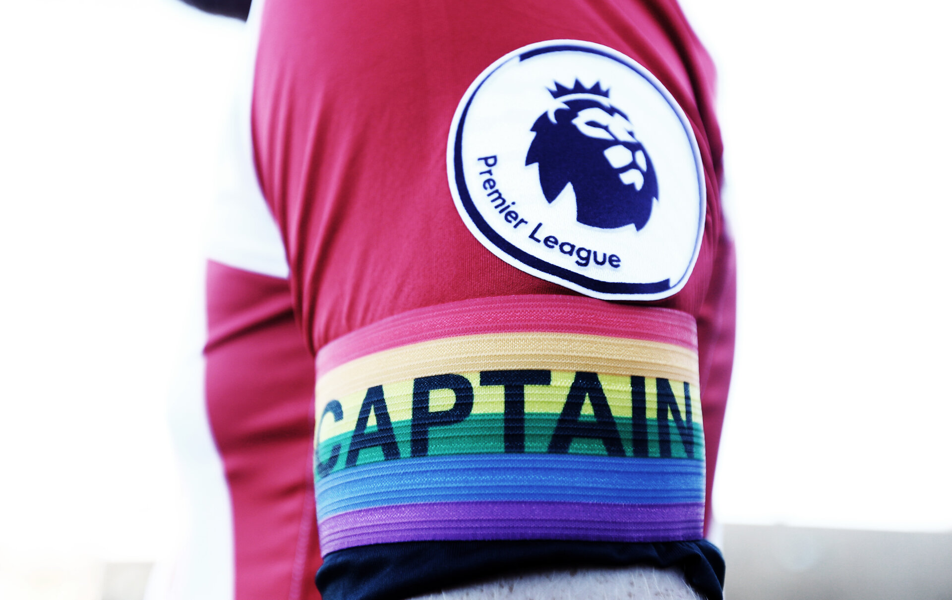Rainbow coloured Captains armband for the Rainbow Laces Campaign to feature in the Premier League this weekend, at the Staplewood Campus, Southampton, 25th November 2016