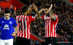 Ryan Bertrand and Charlie Austin during the Premier League match between Southampton and Everton at St Mary's Stadium, Southampton, England on 27 November 2016. Photo by Matt  Watson/SFC/Digital South.