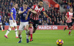 Nathan Redmond (Southampton) and Seamus Coleman (Everton) battle for the ball during the Premier League match between Southampton and Everton at St. Mary's Stadium on 27 November 2016. Photo by Michael Jones/Digital South