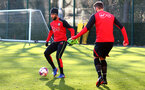 Nathan Redmond during a Southampton FC training session at the Staplewood Campus, Southampton, 29th November 2016