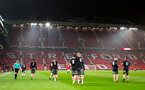 team celebration after thomas o'connor scores during Southampton FC U18 v Manchester United U18 in the FA youth cup, at Old Trafford, Manchester, 12th December 2016, pic by Naomi Baker/Southampton FC