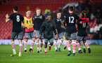 celebrations during Southampton FC U18 v Manchester United U18 in the FA youth cup, at Old Trafford, Manchester, 12th December 2016, pic by Naomi Baker/Southampton FC