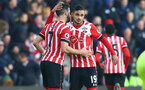 Shane Long and Sofiane Boufal during the Premier League match between Southampton and West Bromwich Albion at St Mary's Stadium, Southampton, England on 31 December 2016. Photo by Matt Watson/SFC/Digital South.