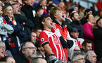Saints fans during the Premier League match between Southampton and West Bromwich Albion at St Mary's Stadium, Southampton, England on 31 December 2016. Photo by Matt Watson/SFC/Digital South.