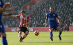 James Ward-Prowse (Southampton) makes it 1-0 during the Premier League match between Southampton and Leicester City at St Mary's Stadium, Southampton, England on 22 January 2017.