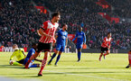 Jay Rodriguez celebrates during the Premier League match between Southampton and Leicester City at St Mary's Stadium, Southampton, England on 21 January 2017. Photo by Matt Watsonr/SFC/Digital South.