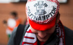 Fans during the EFL Cup Final match between Manchester United and Southampton at Wembley Stadium, London, England on 26 February 2017. Photo by Naomi Baker/SFC/Digital South.
