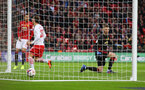 Manolo Gabbiadini scores during the EFL Cup Final match between Manchester United and Southampton at Wembley Stadium, London, England on 26 February 2017. Photo by Matt Watson/SFC/Digital South.