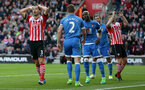 Maya Yoshida (Southampton) has his head in his hands during the Premier League match between Southampton and Bournemouth at St Mary's Stadium, Southampton, England on 1 April 2017.