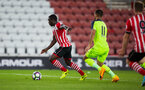olufela olomola scores during Southampton FC U23 v Liverpool U23, at St Mary's stadium, Southampton, 10th April 2017, pic by Naomi Baker/Southampton FC