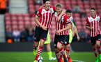 alfie jones celebrates with ollie cook during Southampton FC U23 v Liverpool U23, at St Mary's stadium, Southampton, 10th April 2017, pic by Naomi Baker/Southampton FC