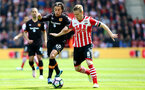 Steven Davis(right) and Lazar Markovic during the Premier League match between Southampton and Hull City at St Mary's Stadium, Southampton, England on 29 April 2017. Photo by Matt Watson/SFC/Digital South.