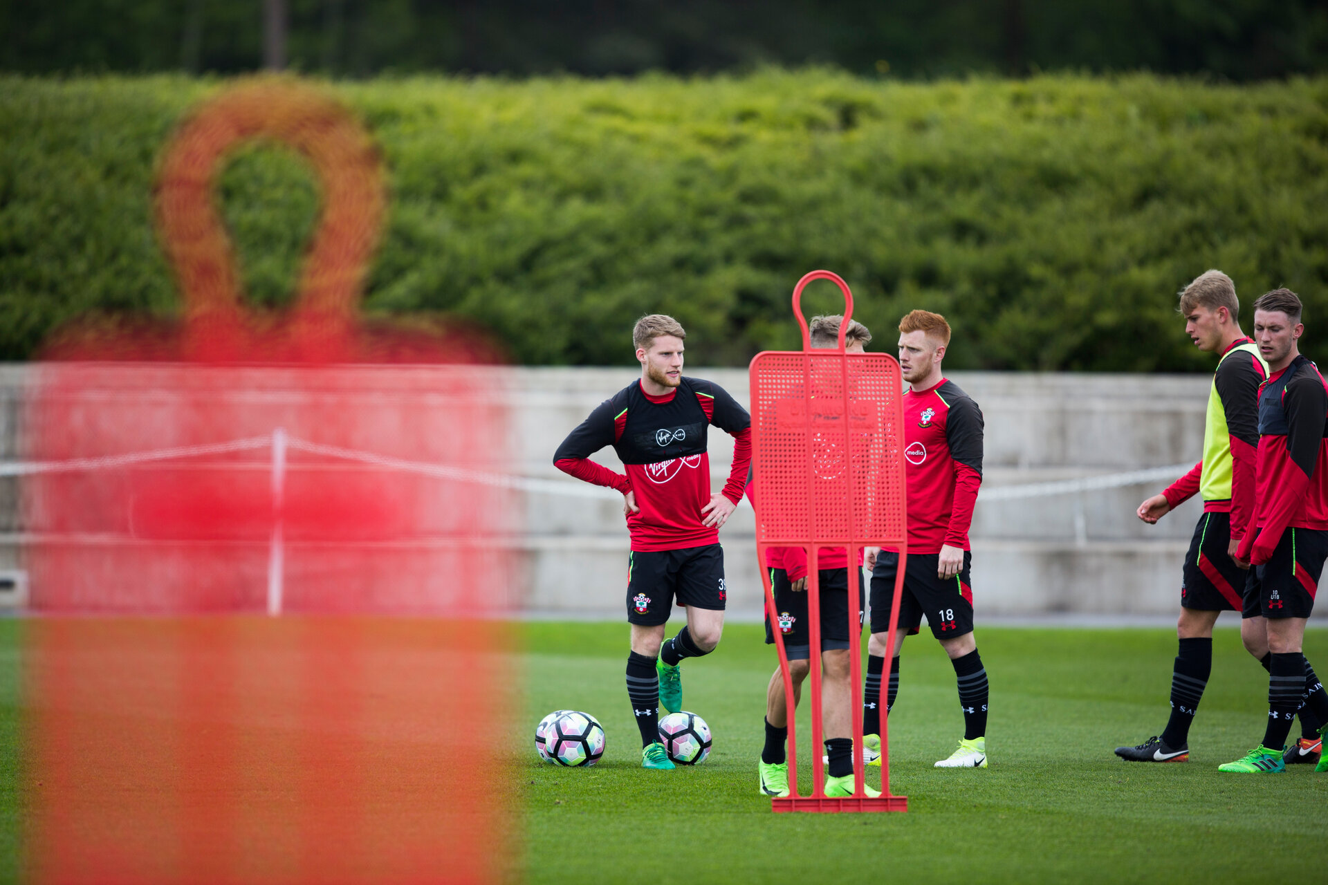 josh sims during an U23 training session at Staplewood, Southampton, England on 3rd May 2017. Photo by Naomi Baker/SFC/Digital South.
