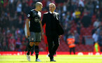 Oriol Romeu and Claude Puel during the Premier League match between Liverpool and Southampton at Anfield, Liverpool. Photo by Matt Watson/SFC/Digital South.