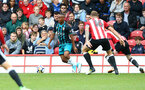 Tyreke Johnson during the pre-season friendly between Brentford FC(red/white) and Southampton FC(black), at Griffin Park Stadium, Brentford, London, 22nd July 2017