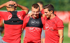 Jordy Clasie(left) and Cedric during a Southampton FC pre season training session at the Staplewood Campus, Southampton, 31st July 2017
