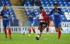 Marcus Barnes during the Check a Trade Trophy group stage match between Peterborough United and Southampton FC U21, at ABAX Stadium, Peterborough, 29th August 2017