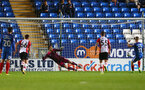 Peterborough score from the penalty spot during the Check a Trade Trophy group stage match between Peterborough United and Southampton FC U21, at ABAX Stadium, Peterborough, 29th August 2017
