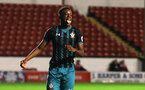 WALSALL, ENGLAND - SEPTEMBER 11: Jonathn Afolabi during the Premier League 2 match between Aston Villa and Southampton, at Banks' Stadium on September 11, 2017 in Walsall, England. (Photo by Matt Watson/Southampton FC via Getty Images)
