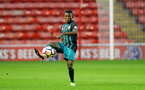 WALSALL, ENGLAND - SEPTEMBER 11: Richard Bakary during the Premier League 2 match between Aston Villa and Southampton, at Banks' Stadium on September 11, 2017 in Walsall, England. (Photo by Matt Watson/Southampton FC via Getty Images)