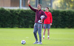 SOUTHAMPTON, ENGLAND - SEPTEMBER 28: manager Mauricio Pellegrinoduring a Southampton FC training session at the Staplewood Campus on September 28, 2017 in Southampton, England. (Photo by Matt Watson/Southampton FC via Getty Images)