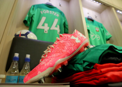 Win Forster's signed boots