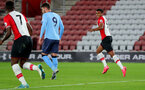 SOUTHAMPTON, ENGLAND - OCTOBER 16: Marcus Barnes of Southampton celebrates as he opens the scoring during the Premier League 2 match between Southampton U23 and Newcastle United U23, at St Mary's Stadium on October 16, 2017 in Southampton, England. (Photo by Matt Watson/Southampton FC via Getty Images)