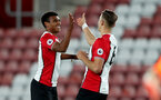 SOUTHAMPTON, ENGLAND - OCTOBER 16: Southampton's Macrus Barnes(left) celebrates during the Premier League 2 match between Southampton U23 and Newcastle United U23, at St Mary's Stadium on October 16, 2017 in Southampton, England. (Photo by Matt Watson/Southampton FC via Getty Images)
