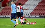 SOUTHAMPTON, ENGLAND - OCTOBER 16: Southampton's Sam McQueen(right) celebrates after scoring during the Premier League 2 match between Southampton U23 and Newcastle United U23, at St Mary's Stadium on October 16, 2017 in Southampton, England. (Photo by Matt Watson/Southampton FC via Getty Images)