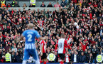 BRIGHTON, ENGLAND - OCTOBER 29: Saints fans during the Premier League match between Brighton and Hove Albion and Southampton at the Amex Stadium on October 29, 2017 in Brighton, England. (Photo by Matt Watson/Southampton FC via Getty Images)