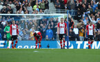 BRIGHTON, ENGLAND - OCTOBER 29: Southampton players dejected after Brighton equalise through Glenn Murray during the Premier League match between Brighton and Hove Albion and Southampton at the Amex Stadium on October 29, 2017 in Brighton, England. (Photo by Matt Watson/Southampton FC via Getty Images)