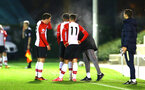 SOUTHAMPTON, ENGLAND - OCTOBER 30: Team coach Radhi Jaidi speaks with Pierre-Emile H¿jbjerg, Sam McQueen during the U23's match between Southampton and Brighton & Hove Albion at Staplewood Campus on October 30, 2017 in Southampton, England. (Photo by James Bridle/Southampton FC via Getty Images) SOUTHAMPTON, ENGLAND - OCTOBER 30: Team coach Radhi Jaidi speaks with Pierre-Emile Højbjerg, Sam McQueen during the U23's match between Southampton and Brighton & Hove Albion at Staplewood Campus on October 30, 2017 in Southampton, England. (Photo by James Bridle/Southampton FC via Getty Images)