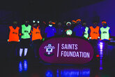 Foundation hosts UV glow football event