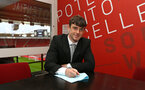 SOUTHAMPTON, ENGLAND - DECEMBER 10: Will Ferry signing his Pro Scholarship ahead of the Premier League match between Southampton and Arsenal at St Mary's Stadium on December 9, 2017 in Southampton, England. (Photo by James Bridle - Southampton FC/Southampton FC via Getty Images)
