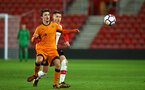 SOUTHAMPTON, ENGLAND - DECEMBER 14: Will Smallbone (right) of Southampton FC during the match between Southampton FC vs Wolverhampton Wanders for the FA U18's Youth Cup on December 14, 2017 in Southampton, England. (Photo by James Bridle - Southampton FC/Southampton FC via Getty Images)