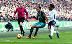 LONDON, ENGLAND - DECEMBER 26: Southampton's Nathan Redmond(L) and Danny Rose during the Premier League match between Tottenham Hotspur and Southampton at Wembley Stadium on December 26, 2017 in London, England. (Photo by Matt Watson/Southampton FC via Getty Images)