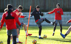 SOUTHAMPTON, ENGLAND - DECEMBER 28: Pierre-Emile H¿jbjerg (middle) during a Southampton FC training session at Staplewood Complex on December 28, 2017 in Southampton, England. (Photo by James Bridle - Southampton FC/Southampton FC via Getty Images) SOUTHAMPTON, ENGLAND - DECEMBER 28: Pierre-Emile Højbjerg (middle) during a Southampton FC training session at Staplewood Complex on December 28, 2017 in Southampton, England. (Photo by James Bridle - Southampton FC/Southampton FC via Getty Images)