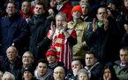 MANCHESTER, ENGLAND - DECEMBER 30: Southampton fans during the Premier League match between Manchester United and Southampton at Old Trafford on December 30, 2017 in Manchester, England. (Photo by Matt Watson/Southampton FC via Getty Images)