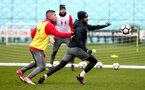 SOUTHAMPTON, ENGLAND - JANUARY 23: Jeremy Pied, Nathan Redmond during an Southampton FC Training session on January 23, 2018 in London, England. (Photo by James Bridle - Southampton FC/Southampton FC via Getty Images)