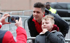 SOUTHAMPTON, ENGLAND - JANUARY 27: Guido Carrillo of Southampton FC meets fans for the first time, ahead of the FA Cup 4th round match between Southampton FC and Watford, at St Mary's Stadium on January 27, 2018 in Southampton, England. (Photo by Matt Watson/Southampton FC via Getty Images)