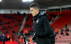 SOUTHAMPTON, ENGLAND - JANUARY 31: Guido Carrillo of Southampton FC warms up ahead of the Premier League match between Southampton and Brighton and Hove Albion at St Mary's Stadium on January 31, 2018 in Southampton, England. (Photo by Matt Watson/Southampton FC via Getty Images)