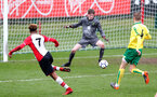 Enzo Robsie shoots wide during the U18 PL match between Southampton and Norwich City, pictured at the Staplewood Campus, Southampton, 10th February 2018