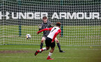Enzo Robsie scores during the U18 PL match between Southampton and Norwich City, pictured at the Staplewood Campus, Southampton, 10th February 2018