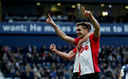 WEST BROMWICH, ENGLAND - FEBRUARY 17: Dusan Tadic of Southampton celebrates after scoring his teams second goal during the Emirates FA Cup fifth round match between West Bromwich Albion and Southampton at The Hawthorns on February 17, 2018 in West Bromwich, England. (Photo by Matt Watson/Southampton FC via Getty Images)
