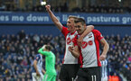 WEST BROMWICH, ENGLAND - FEBRUARY 17: James Ward-Prowse(L) and Dusan Tadic of Southampton during the Emirates FA Cup fifth round match between West Bromwich Albion and Southampton at The Hawthorns on February 17, 2018 in West Bromwich, England. (Photo by Matt Watson/Southampton FC via Getty Images)
