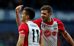 WEST BROMWICH, ENGLAND - FEBRUARY 17: Dusan Tadic(L) and Jack Stephens of Southampton during the Emirates FA Cup fifth round match between West Bromwich Albion and Southampton at The Hawthorns on February 17, 2018 in West Bromwich, England. (Photo by Matt Watson/Southampton FC via Getty Images)