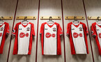 BURNLEY, ENGLAND - FEBRUARY 24: inside the dressing room of Southampton ahead of the Premier League match between Burnley and Southampton at Turf Moor on February 24, 2018 in Burnley, England. (Photo by Matt Watson/Southampton FC via Getty Images)